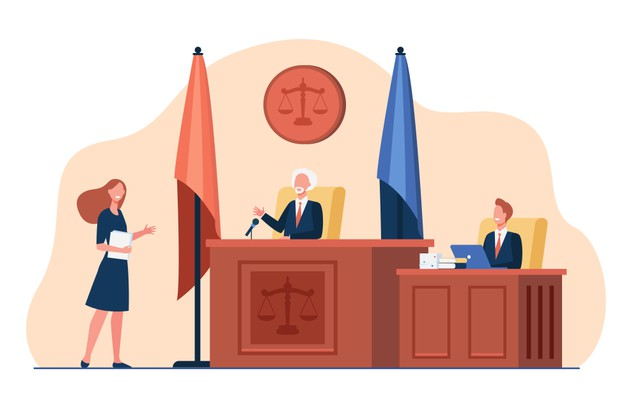 female-attorney-standing-front-judge-talking-isolated-flat-illustration_74855-10653
