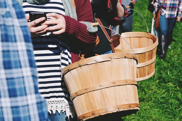 dřevěné košíky