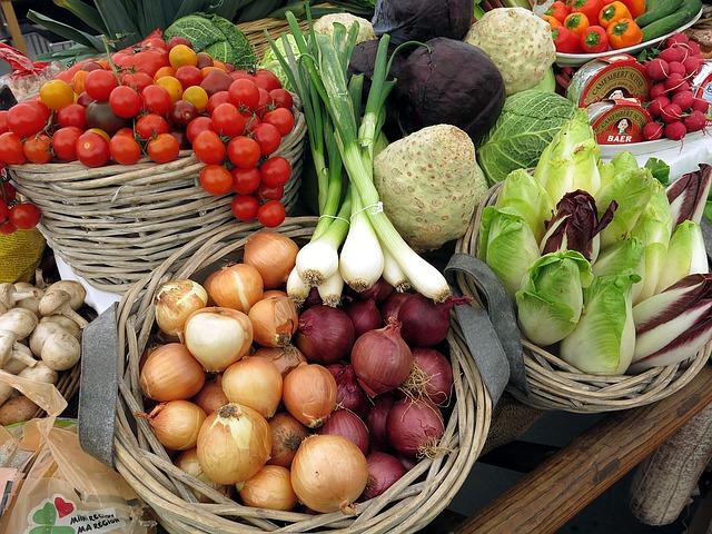 zelenina v košíkách