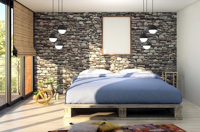 Interiér, posteľ, pohodlná matrac